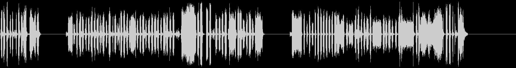 DJスクラッチパフォーマンス4-6の未再生の波形