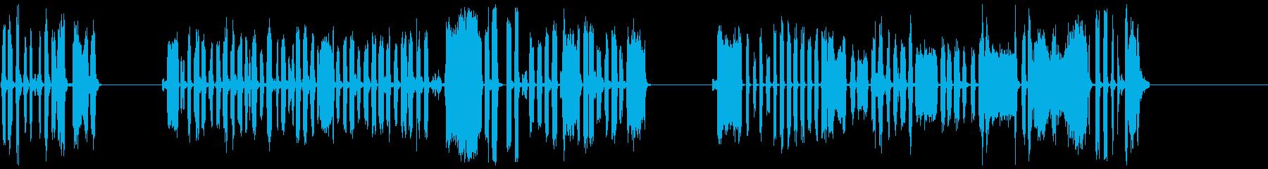DJスクラッチパフォーマンス4-6の再生済みの波形