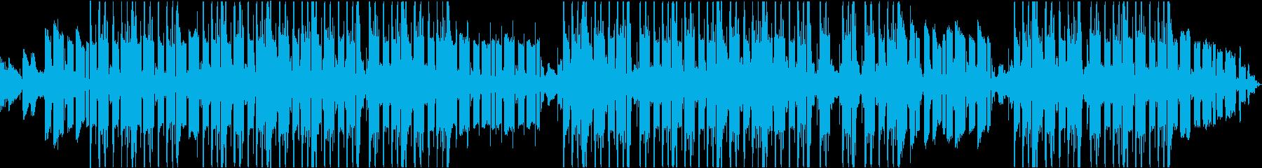爽やかな重低音トラップビートの再生済みの波形