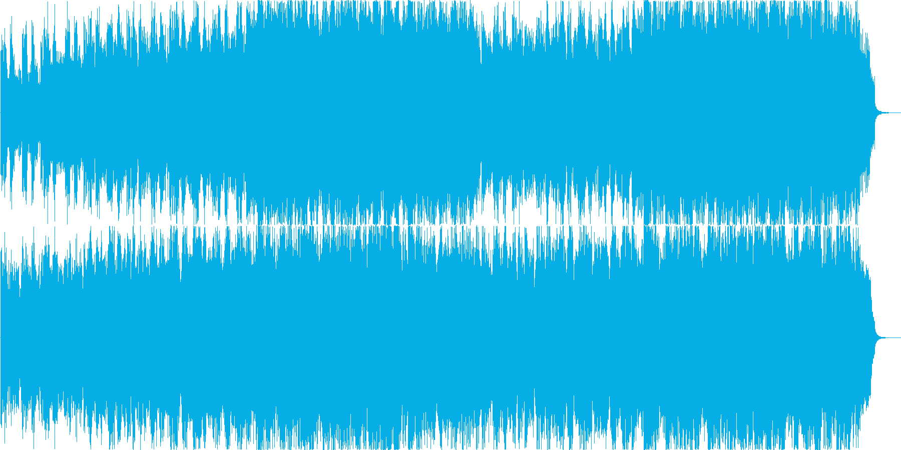 レスキューや出動などの緊迫した場面用音源の再生済みの波形