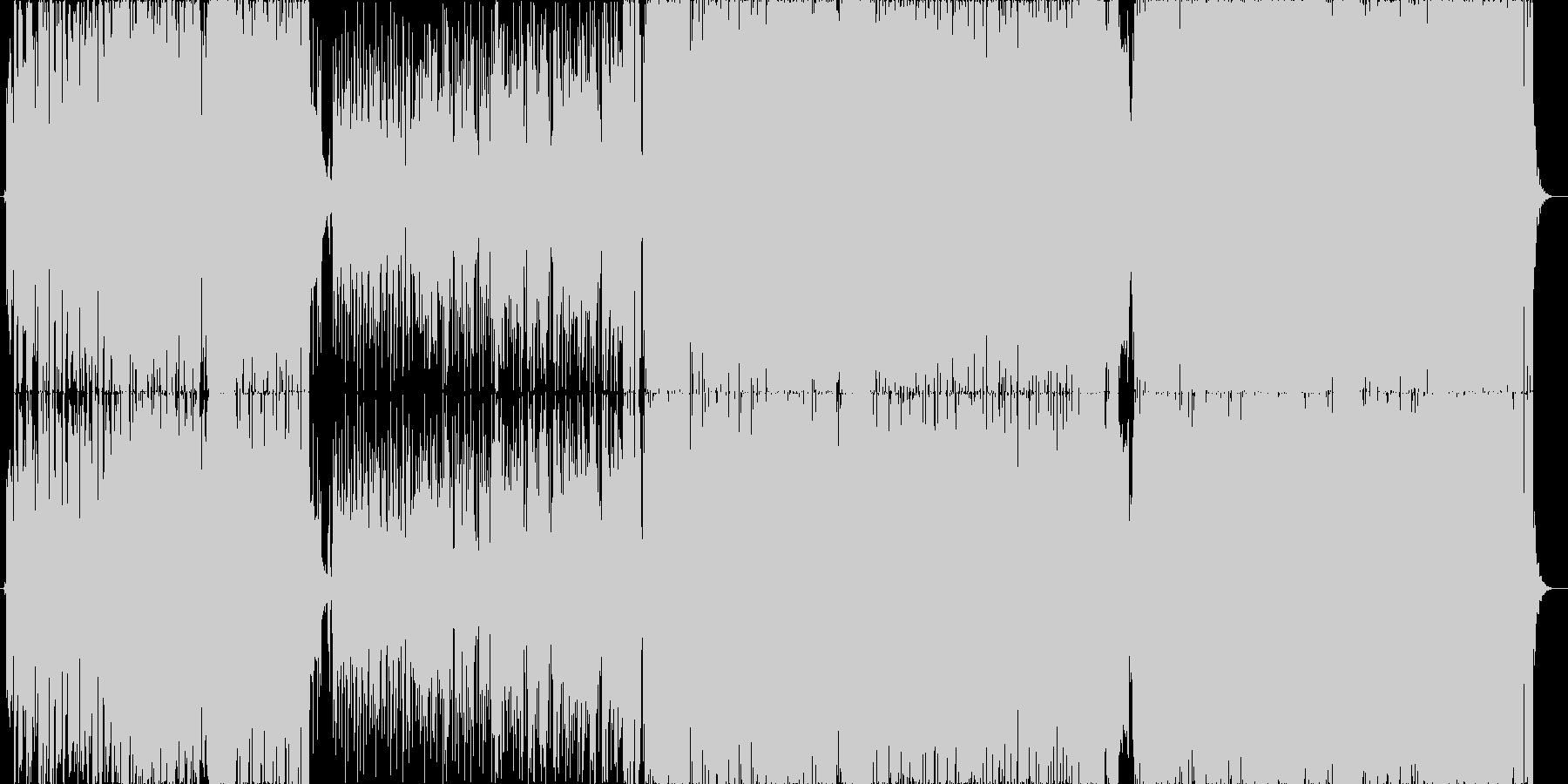 EDM+切ないロックの未再生の波形
