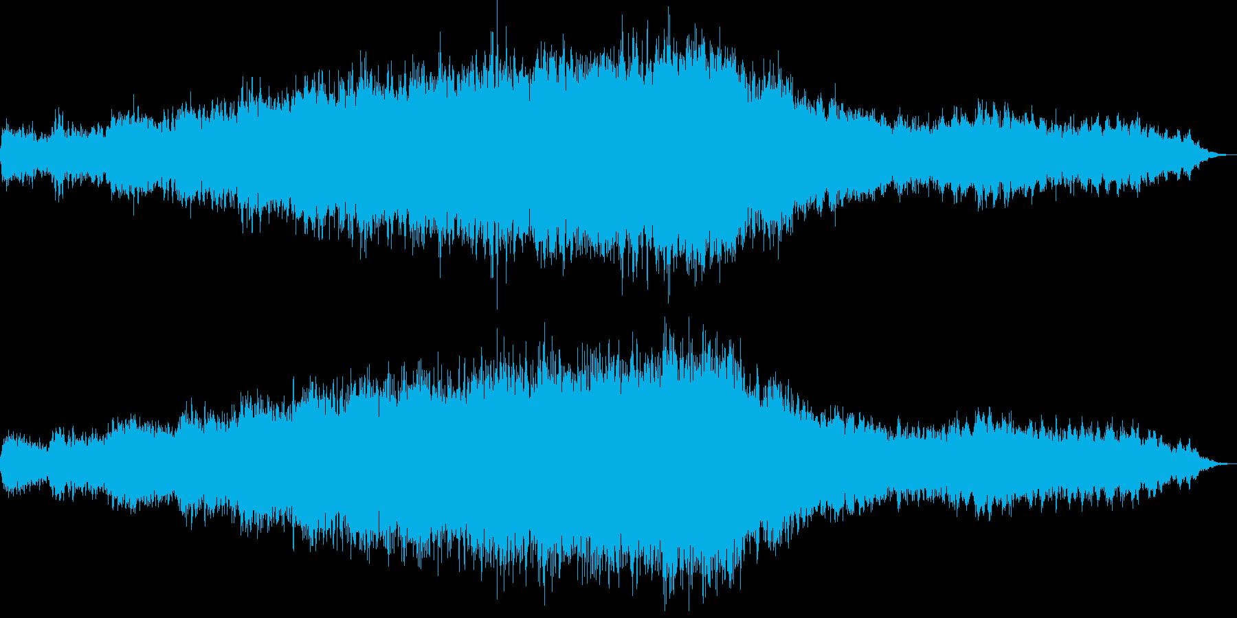 ミステリックなシンセのジングルの再生済みの波形