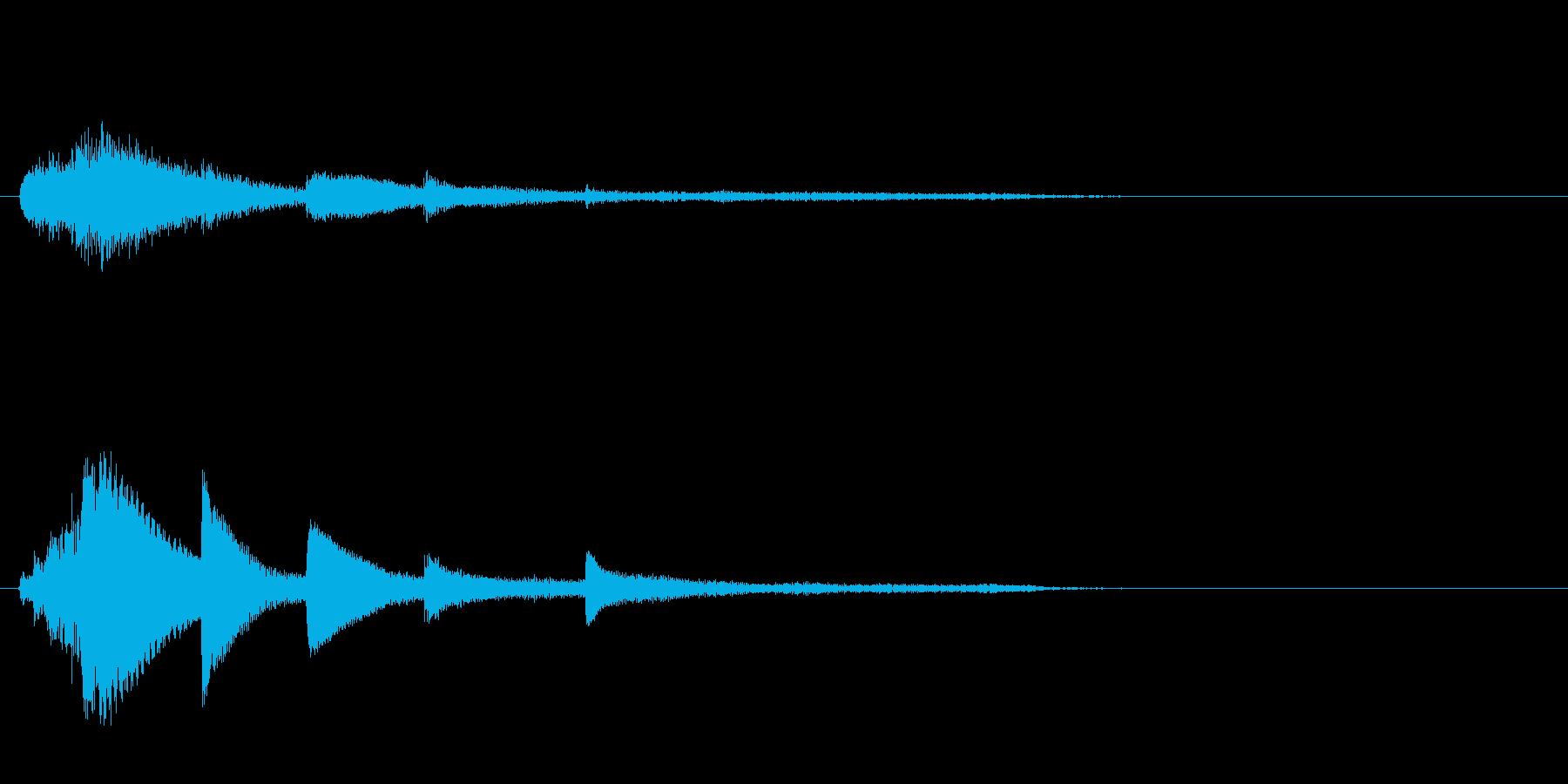 和風ピアノサウンドロゴ_ジングル5秒の再生済みの波形