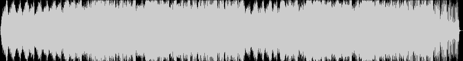 ピアノと波音の穏やかなヒーリングBGMの未再生の波形