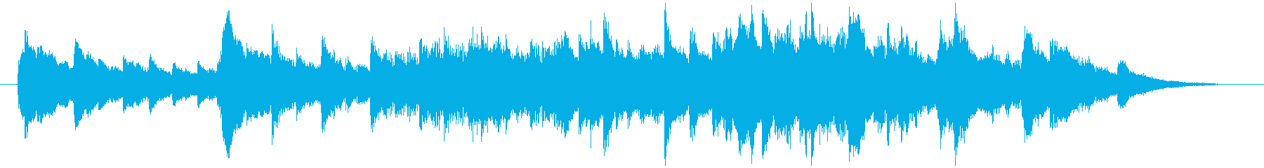 懐かしい思い出 ピアノ曲<30秒>の再生済みの波形