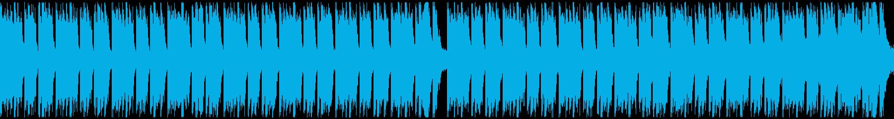 スポーツ音楽(ループ)の再生済みの波形