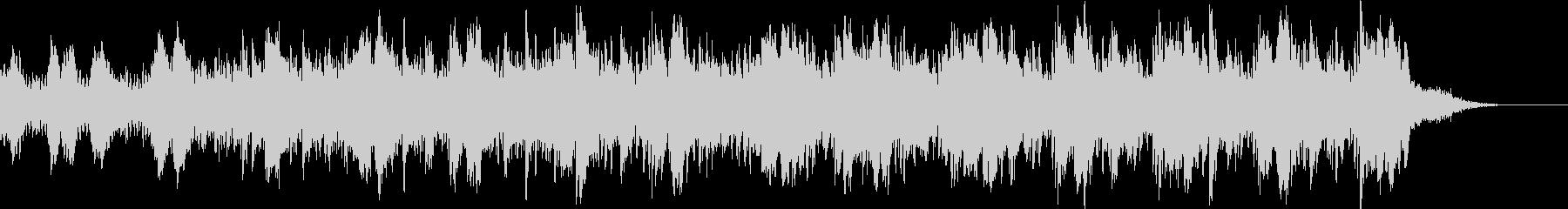 ピアノと電子の先進的な曲 happy の未再生の波形