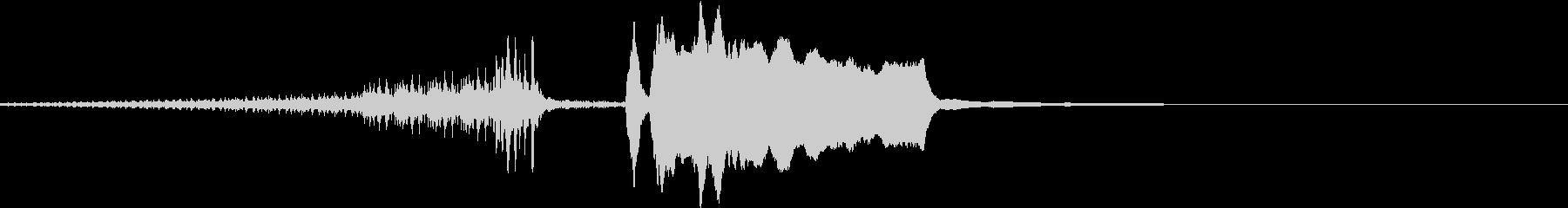 結果発表4/ドラムロール→ジャジャーンの未再生の波形