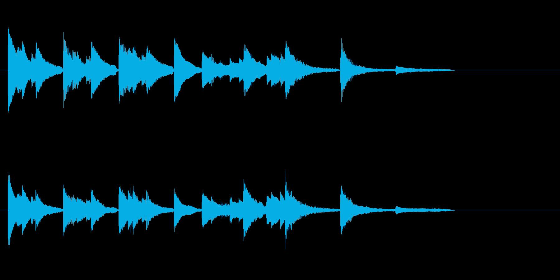 あの日の夏のジングル【ピアノonly】の再生済みの波形