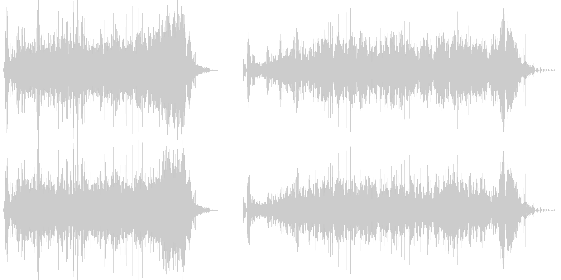 フィクション 電力装置 崩壊05の未再生の波形