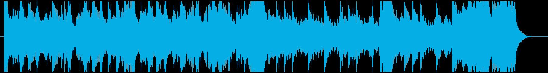 壮大な雰囲気のゲーム向けBGMの再生済みの波形