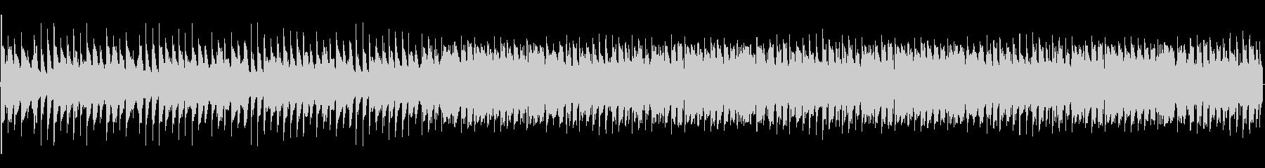 エレクトリックなBGMの未再生の波形