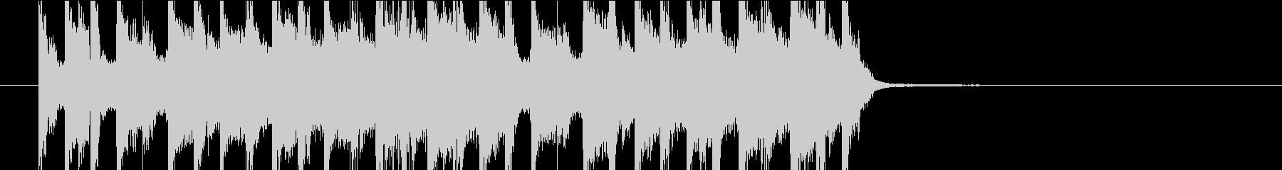 ジングル(ポップ10)の未再生の波形