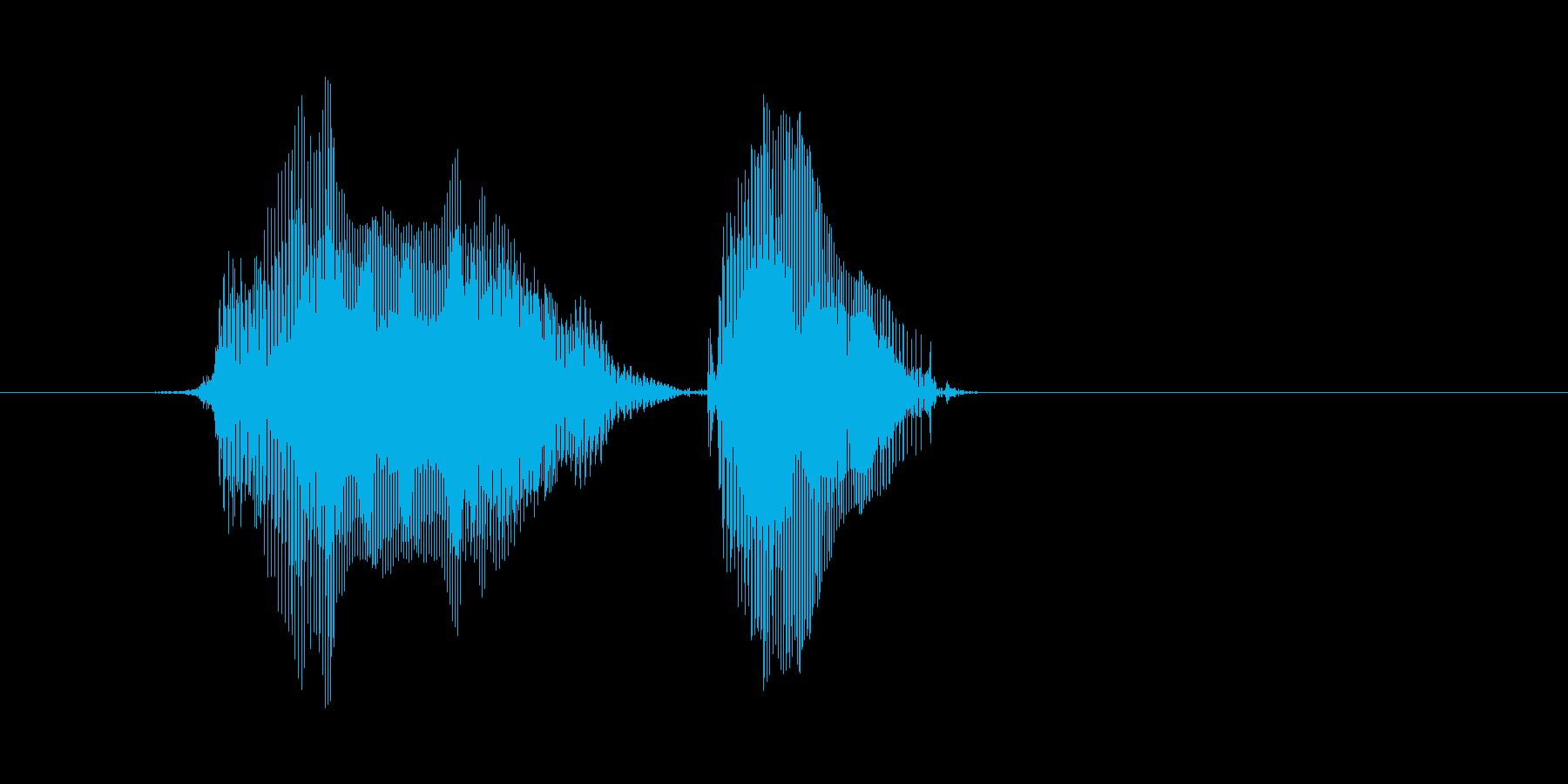 「よーい ドン」の再生済みの波形