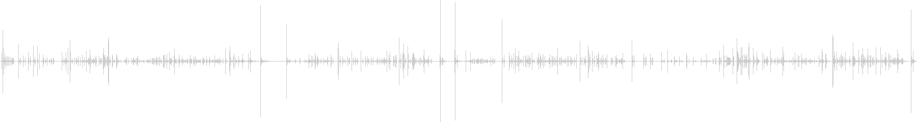 キーボードで入力している効果音の未再生の波形