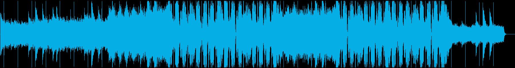 ドラマティックなフューチャーポップBGMの再生済みの波形