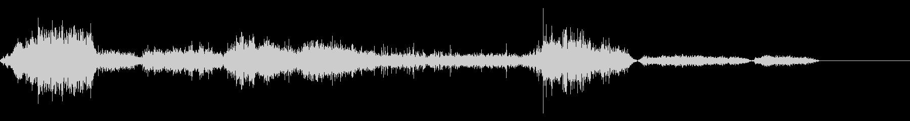 ゾンビの唸り声03の未再生の波形
