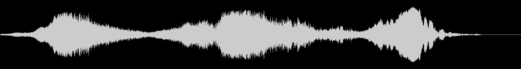 ウィーーン(宇宙船が通過する効果音)の未再生の波形