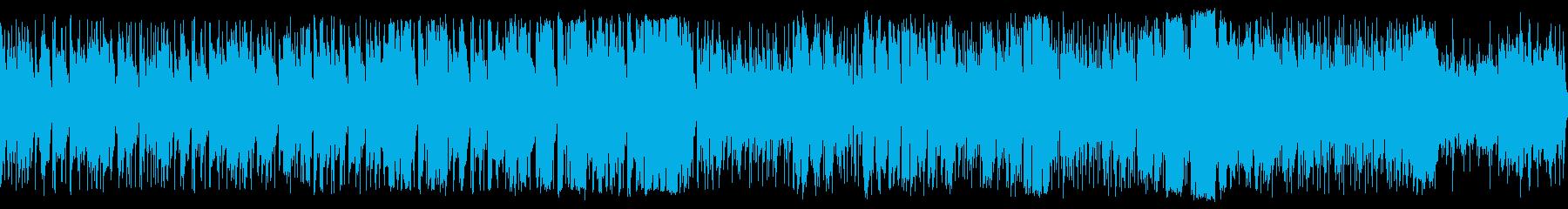 アップテンポ、笛主体の素朴なBGMループの再生済みの波形