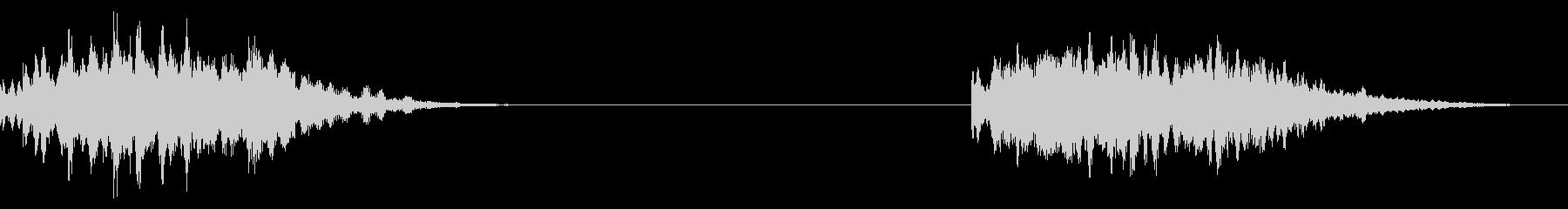 ベルスケールクロマティック、2バー...の未再生の波形