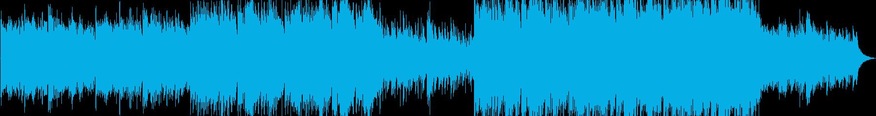 ロマンチックなピアノの背景の再生済みの波形