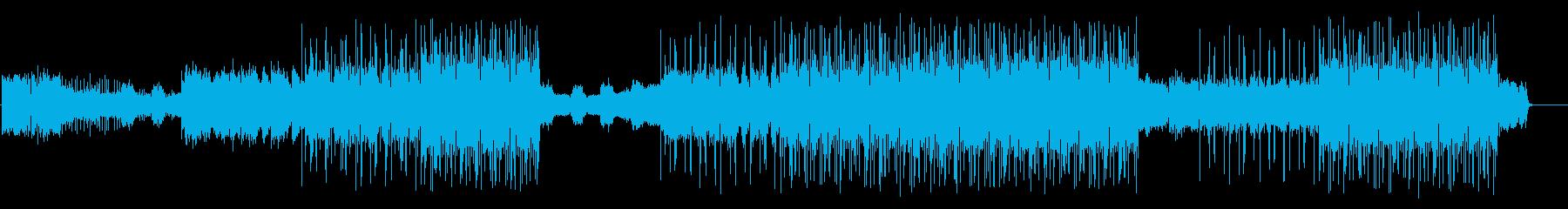 英語のボーカルが印象的なパワフルなEDMの再生済みの波形