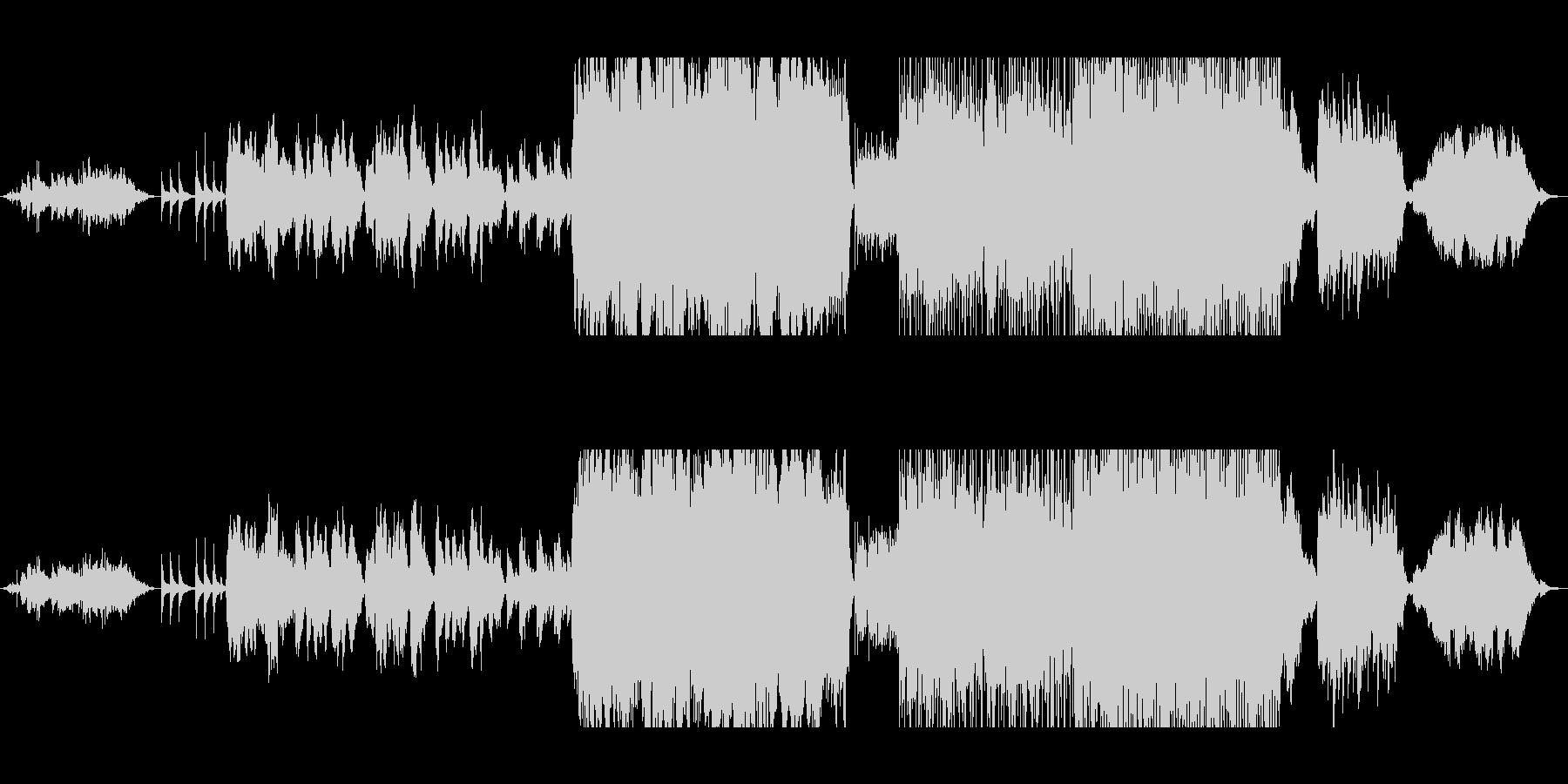 二胡、アイリッシュホイッスルによる演奏の未再生の波形