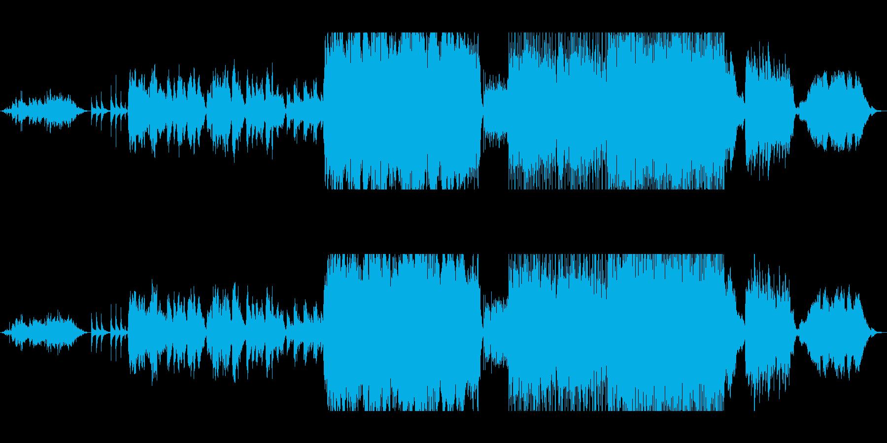 二胡、アイリッシュホイッスルによる演奏の再生済みの波形