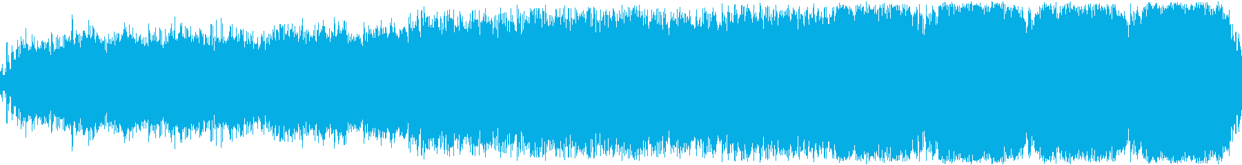 怪しい異次元の世界を想像させるシンセの曲の再生済みの波形