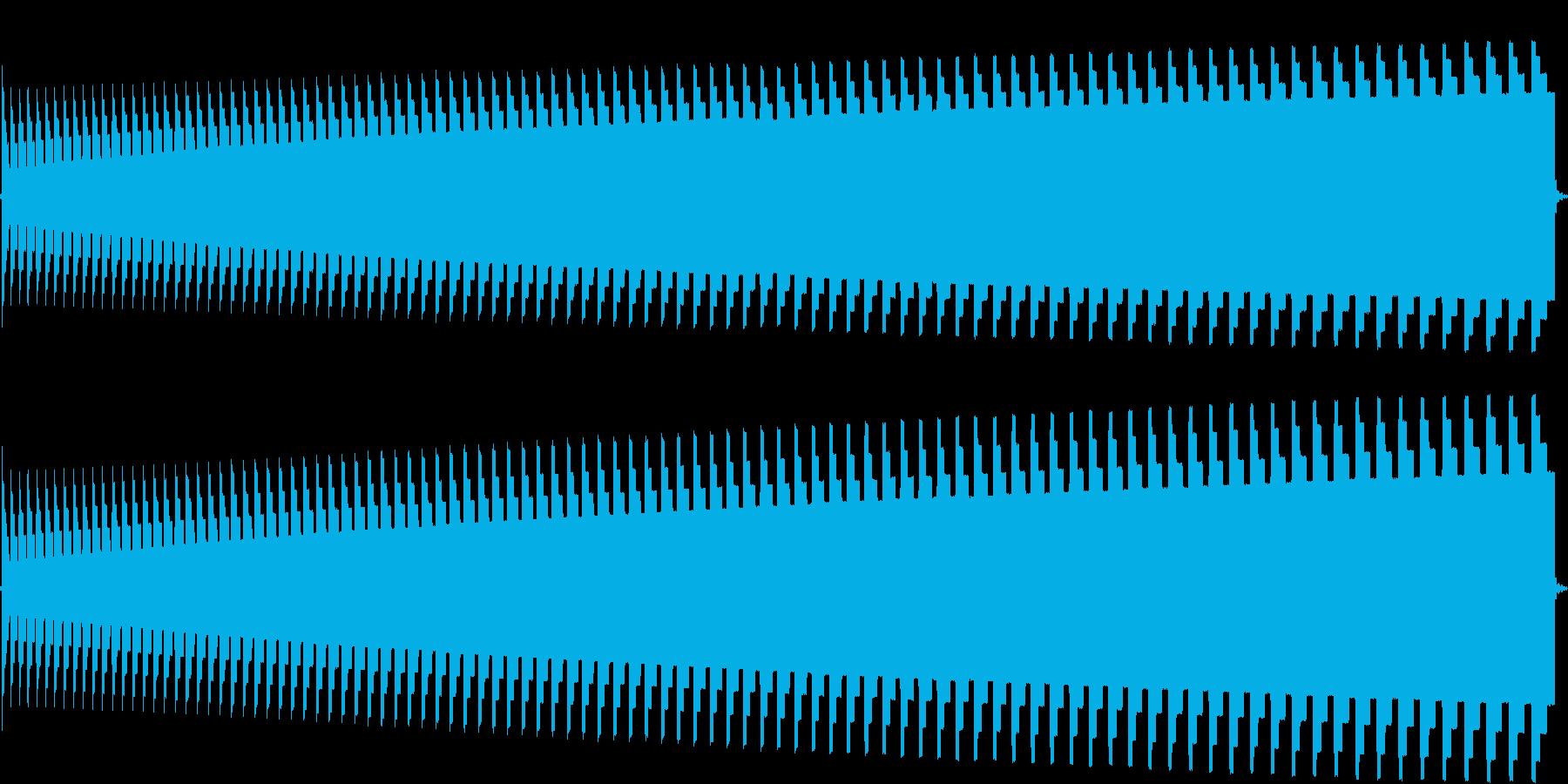 トーンドロップの再生済みの波形