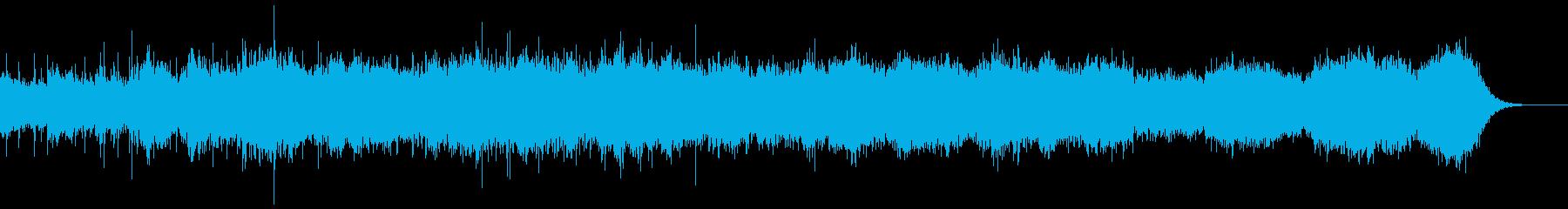 環境音、シンセ、フルートの作品 ショートの再生済みの波形