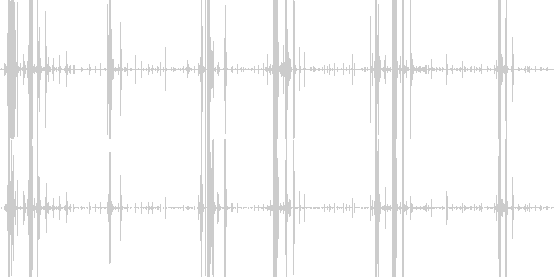 パリパリサクサク 春巻きを食べる音の未再生の波形