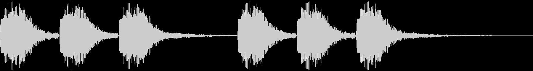未来的・近代的な通知音の未再生の波形