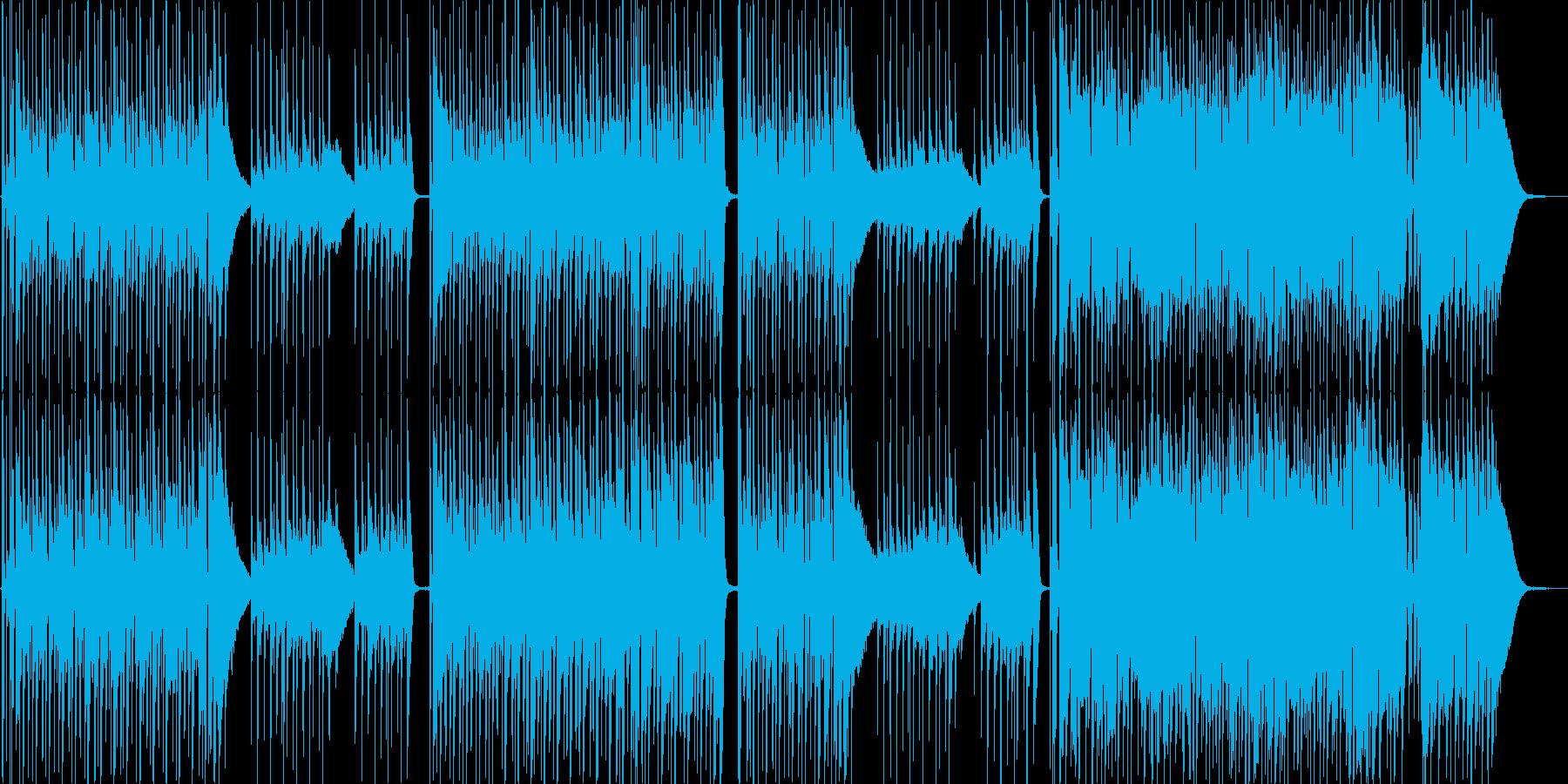 ポップ。アコースティックサウンド。の再生済みの波形