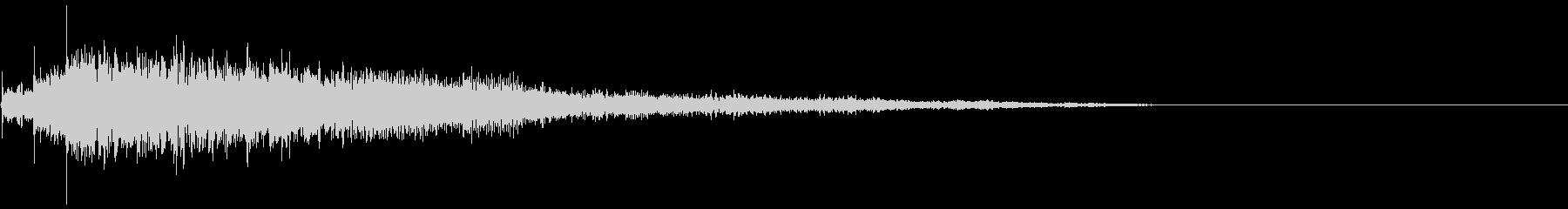 タイトルバック 8 の未再生の波形