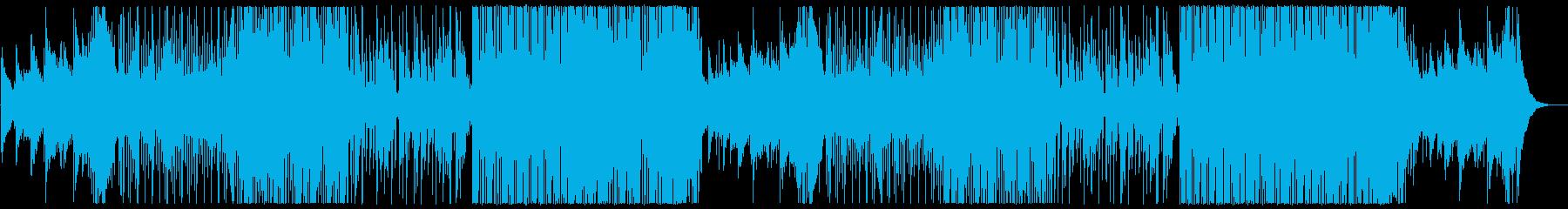 明るい懐かしさのあるシンセサイザーの曲の再生済みの波形