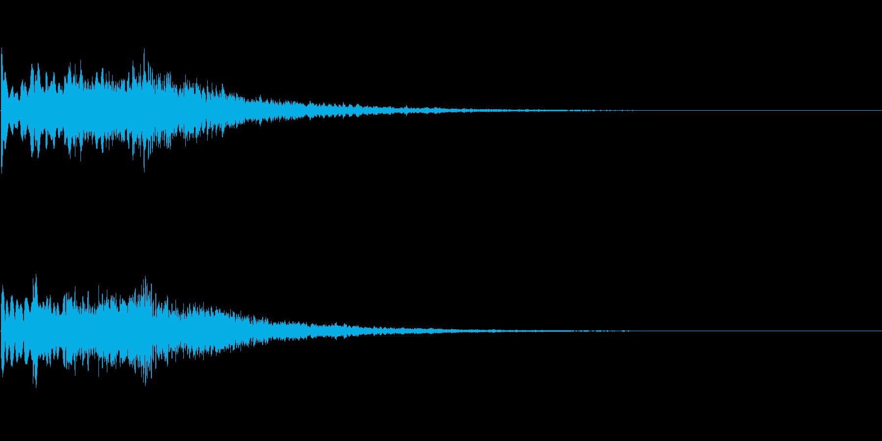 キラーン(決定音、アプリ、ゲームに)の再生済みの波形