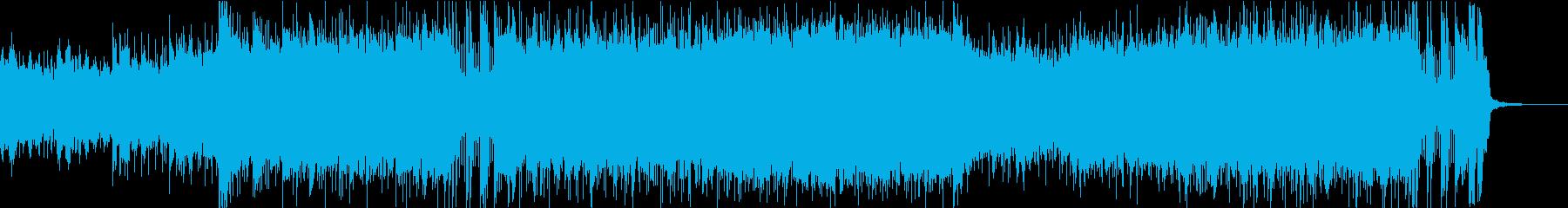 ロックでヘヴィな戦闘曲の再生済みの波形