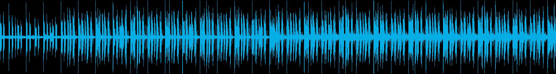 黙々と働く人々を表現したループ曲の再生済みの波形