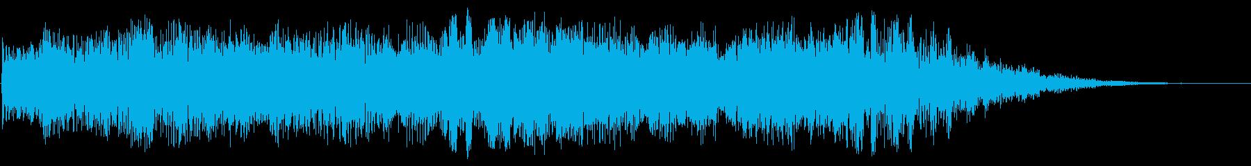 神秘的な宇宙空間を表す音の再生済みの波形