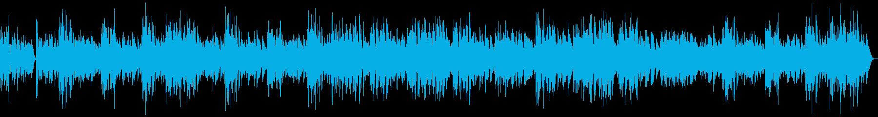 昔のフィルム映画やラジオ風のラグタイム1の再生済みの波形
