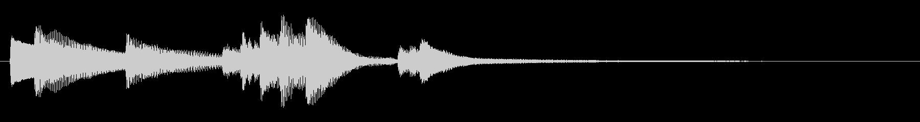 トロイメライのピアノジングル 1_鳥なしの未再生の波形