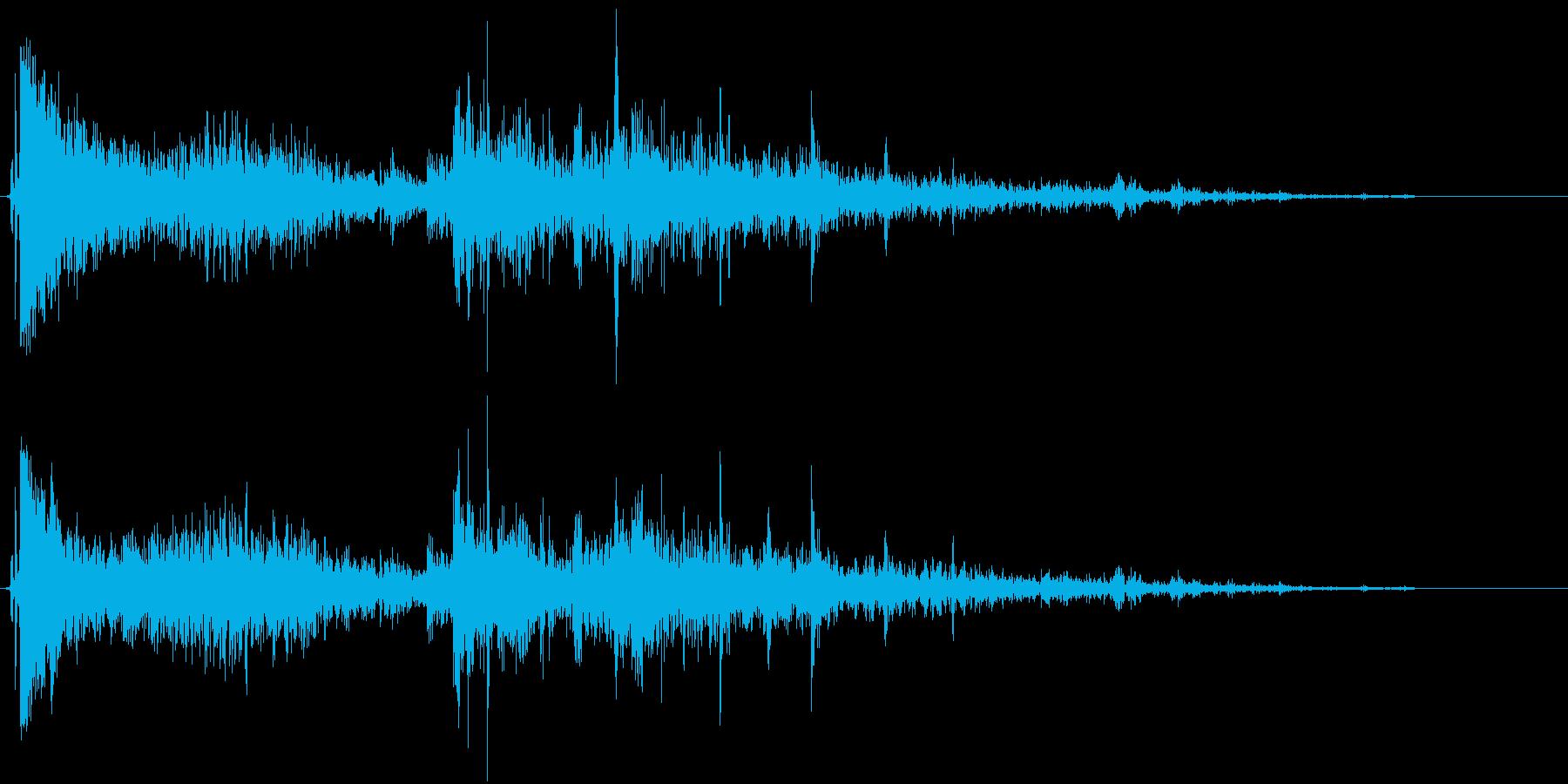 【爆発系効果音】爆発~崩れる音の再生済みの波形