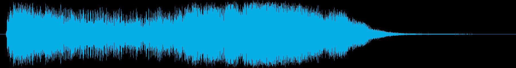 レベルアップっぽいファンファーレの再生済みの波形