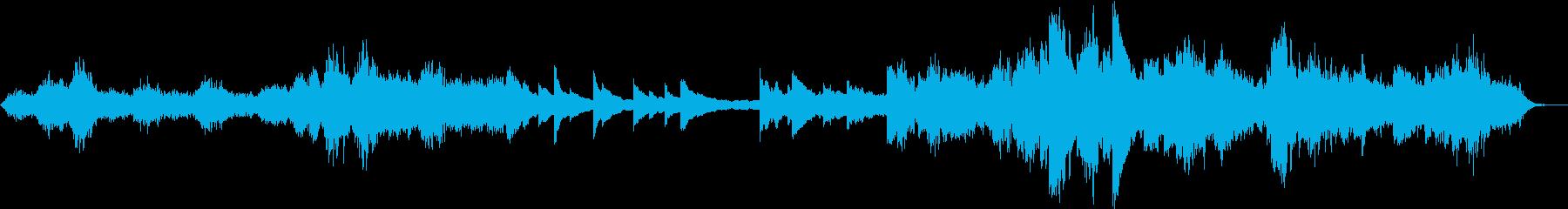 厳粛で幻想的な賛美歌風の曲の再生済みの波形