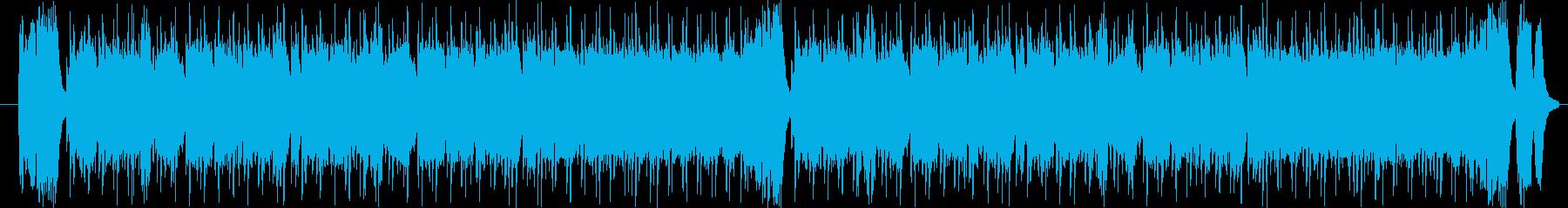 熱血ヒーロー・戦隊ものアクション系の曲の再生済みの波形