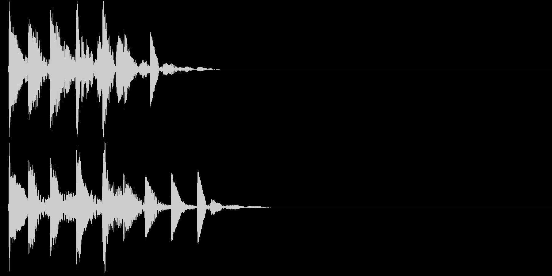 ゲーム内カーソル移動やアイテム取得時の音の未再生の波形