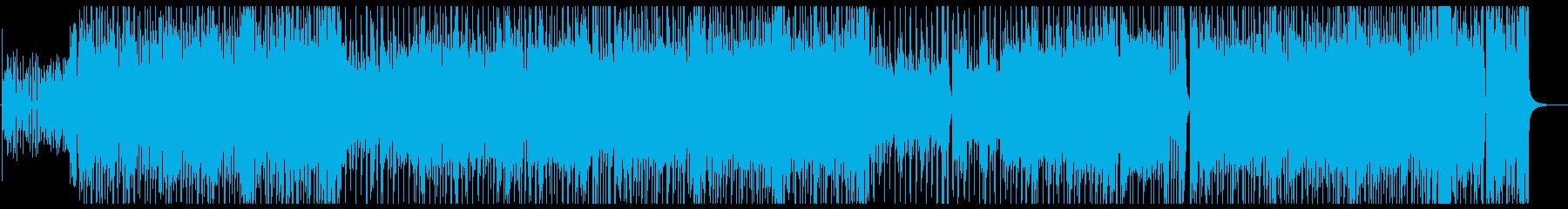 シンプルでノリの良いロックの再生済みの波形