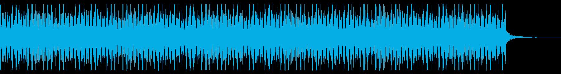 落ち着いた雰囲気のテクノの再生済みの波形
