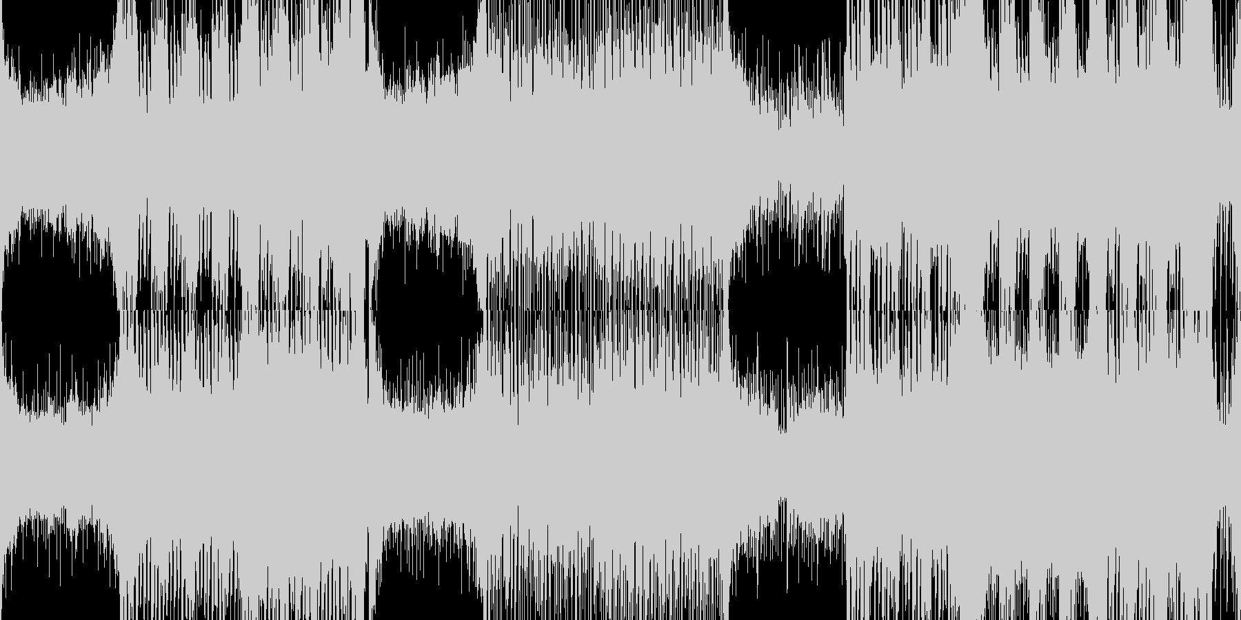【ループ】緊迫感のある高速オーケストラの未再生の波形